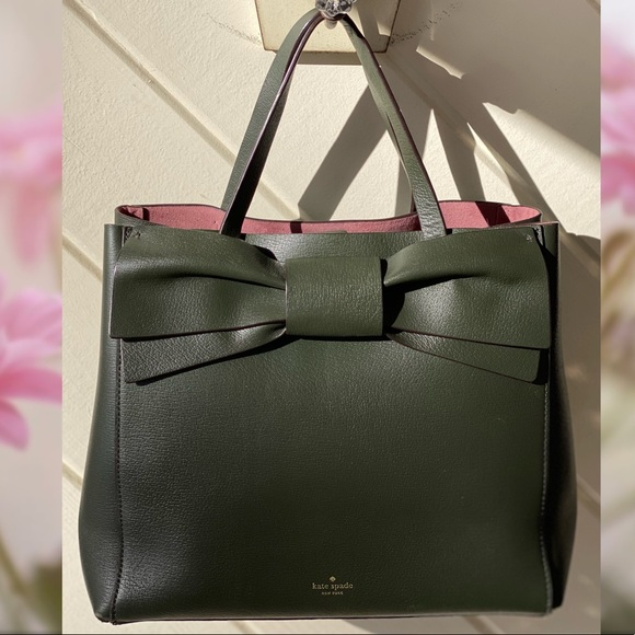 KATE SPADE OLIVE DRIVE BRIGETTE BOW SATCHEL PURSE